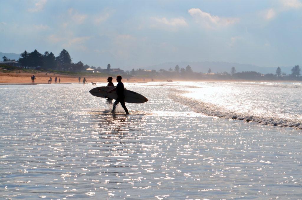 Umina beach surfing