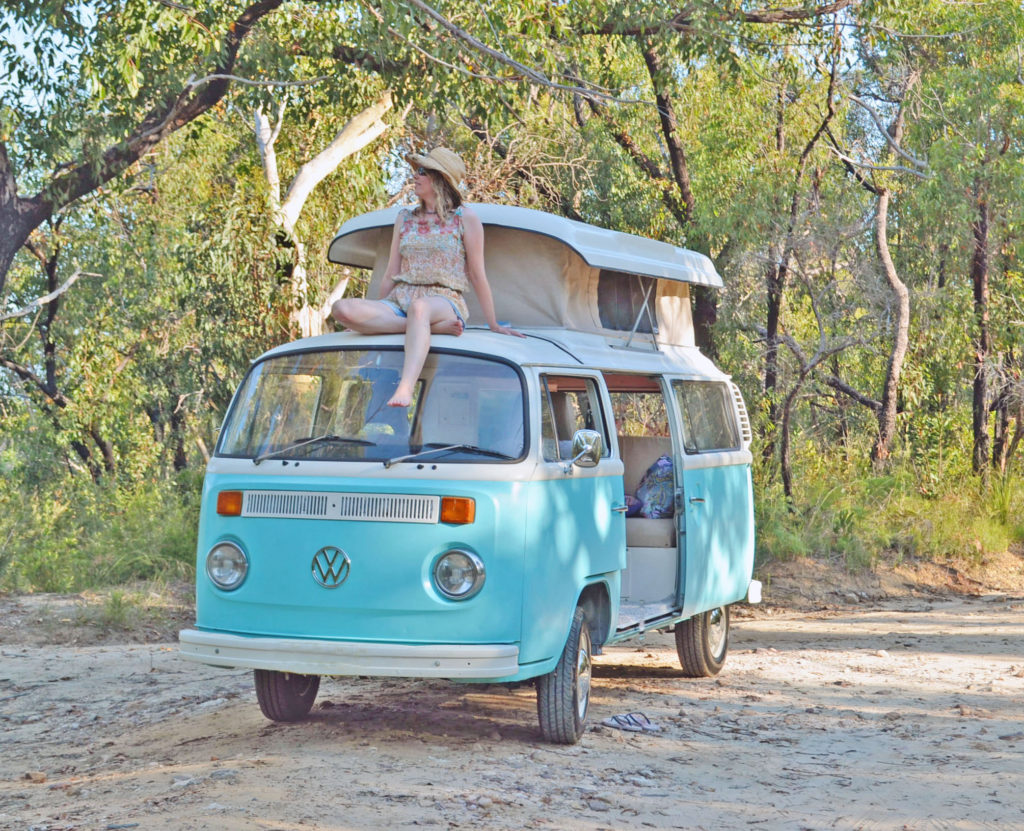 Road trip, having fun in a Kombi