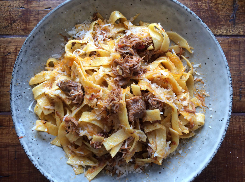 where to eat and shop off tourist drive 33, Lamb linguine myrtle cottage