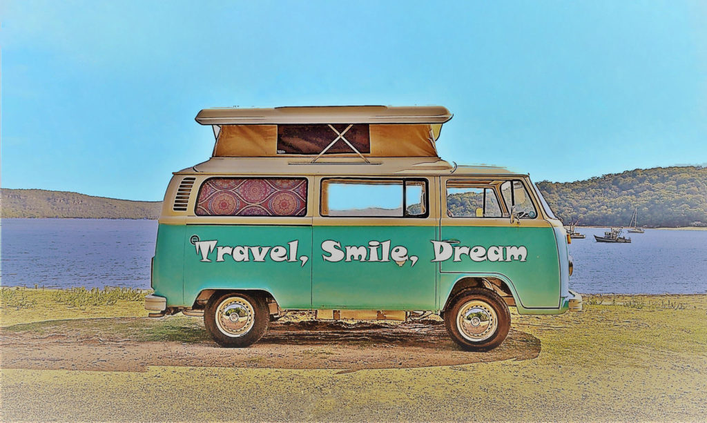 kombi lifestyle drawing