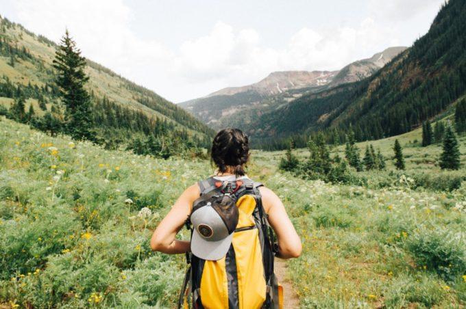 Road trip hiker