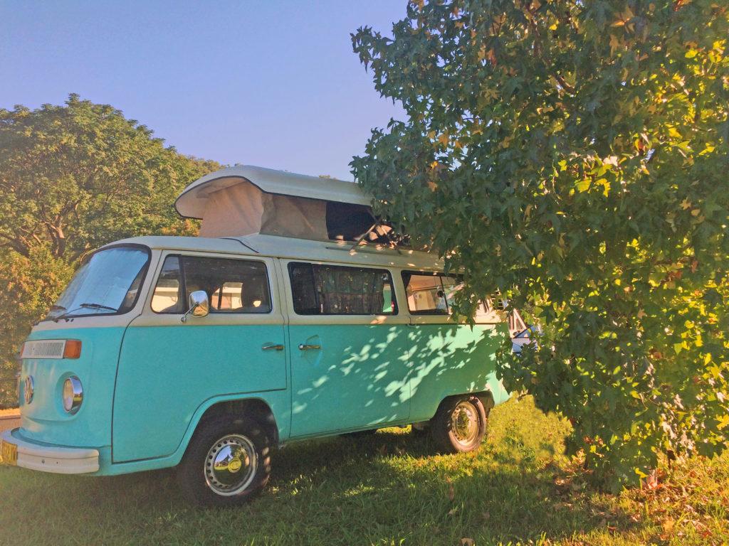 Kombi camping at St Albans Folk Festival